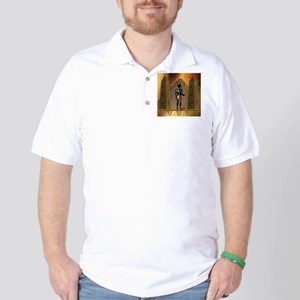 Anubis the egyptian god Golf Shirt