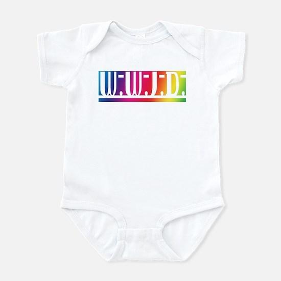 Rainbow WWJD Infant Bodysuit