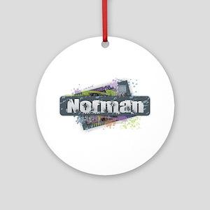 Norman Design Round Ornament