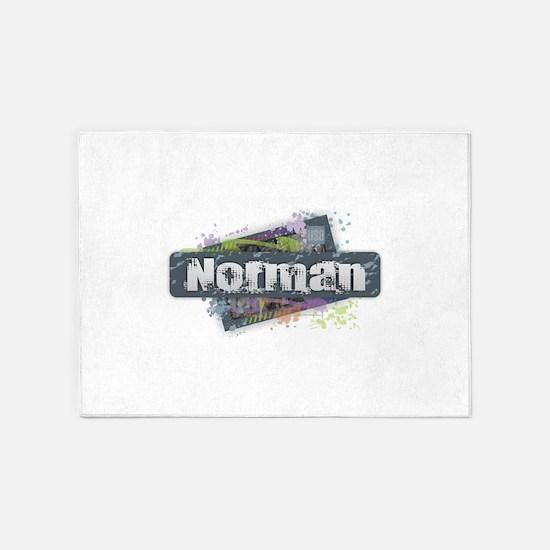 Norman Design 5'x7'Area Rug