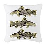 Giraffe Bubu Catfish Woven Throw Pillow