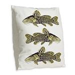 Giraffe Bubu Catfish Burlap Throw Pillow