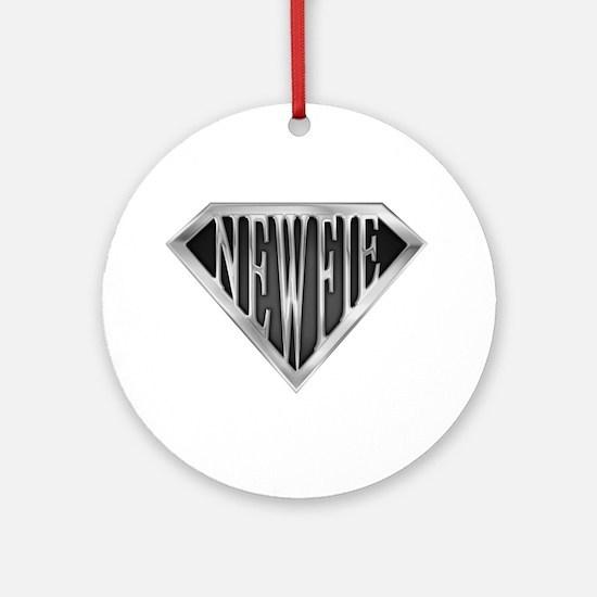 SuperNewfie(metal) Ornament (Round)