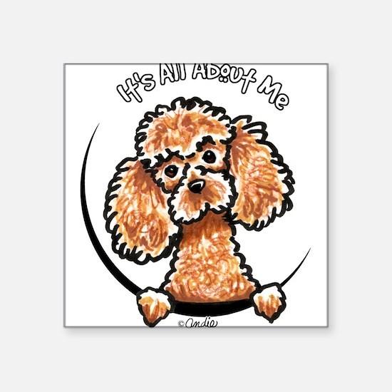 "Cute Poodle Square Sticker 3"" x 3"""