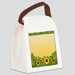 Sunflower Design 3 Canvas Lunch Bag