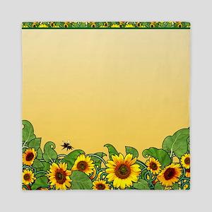 Sunflower Design 3 Queen Duvet