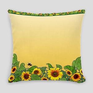 Sunflower Design 3 Everyday Pillow