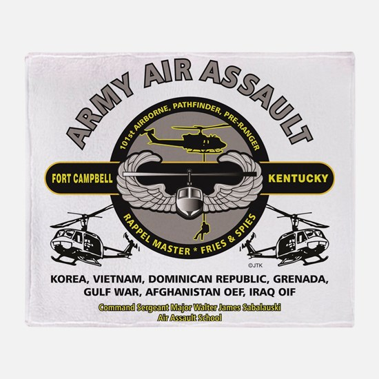 Cute Air assault Throw Blanket