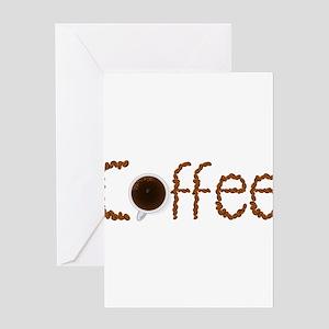 i love coffee Greeting Cards