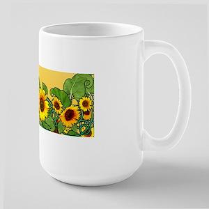Sunflower Design 3 Mugs
