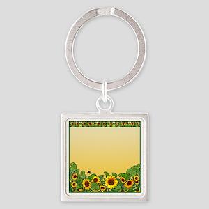Sunflower Design 3 Keychains