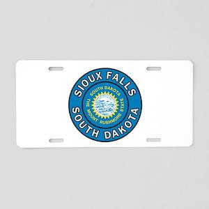 Sioux Falls Aluminum License Plate