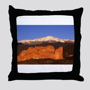 Garden of the Gods and Pikes Peak No Throw Pillow