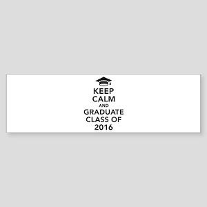 Keep calm and graduate class of 2 Sticker (Bumper)