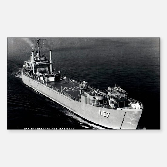 USS TERRELL COUNTY Sticker (Rectangle)