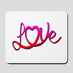 Whimsical Love Heart Mousepad