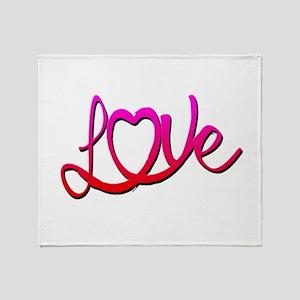 Whimsical Love Heart Throw Blanket