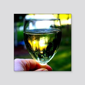 How about a glass of wine? Sticker