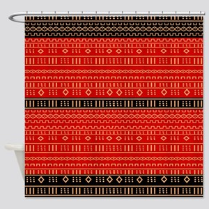 Afrocentric Pattern Shower Curtain