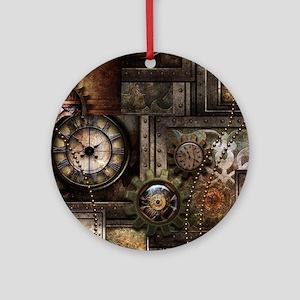 Steampunk, wonderful clockwork with gears Round Or