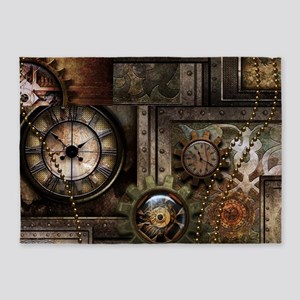 Steampunk, wonderful clockwork with gears 5'x7'Are