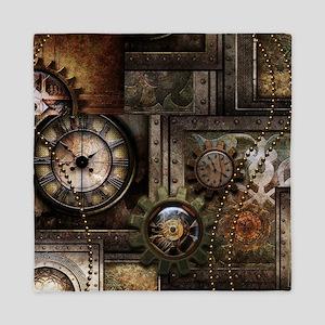 Steampunk, wonderful clockwork with gears Queen Du
