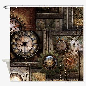 Steampunk, wonderful clockwork with gears Shower C