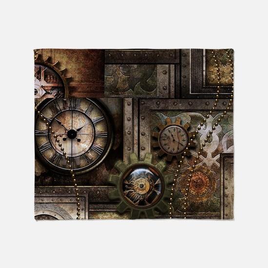 Steampunk, wonderful clockwork with gears Throw Bl