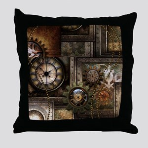 Steampunk, wonderful clockwork with gears Throw Pi
