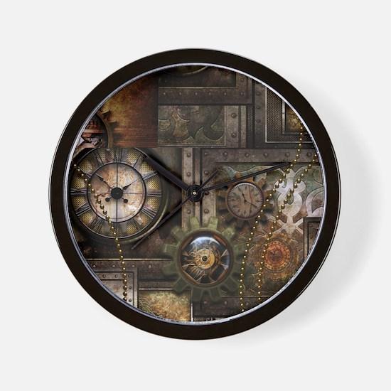 Steampunk, wonderful clockwork with gears Wall Clo
