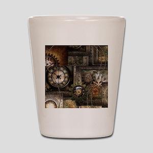 Steampunk, wonderful clockwork with gears Shot Gla