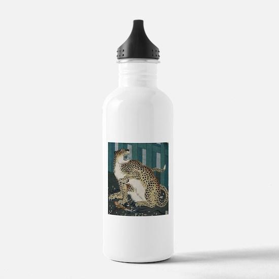 Ukiyo-e Ancient Leopar Water Bottle