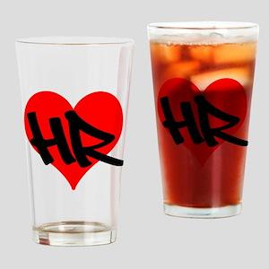 HR Heart Drinking Glass
