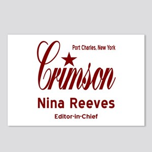 Nina Clay Editor Crimson Postcards (Package of 8)