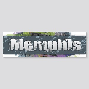 Memphis Design Bumper Sticker