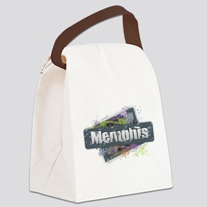 Memphis Design Canvas Lunch Bag