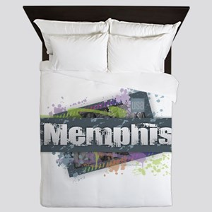 Memphis Design Queen Duvet
