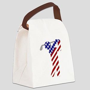 USA Mens Golf Canvas Lunch Bag