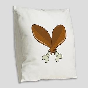 Drumsticks Burlap Throw Pillow