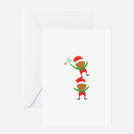 Christmas Elves Greeting Cards