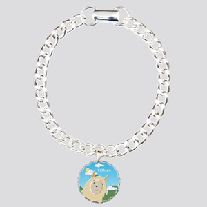 Sweet Llama Charm Bracelet, One Charm
