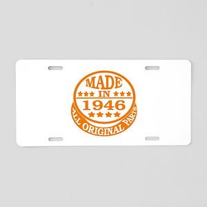 Made in 1946, All original Aluminum License Plate
