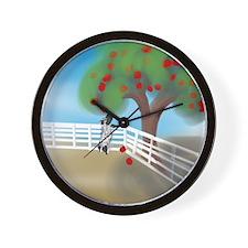 Apple Season Wall Clock