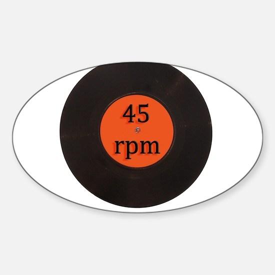 Vinyl record vintage 45 rpm 7 inch single Decal