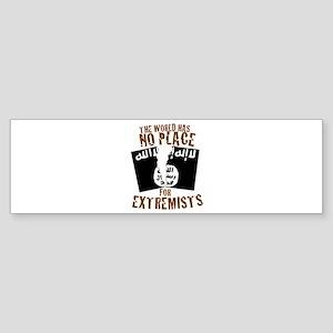 No Extremists Bumper Sticker