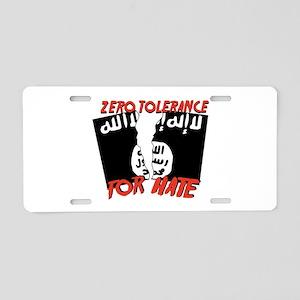 Zero Tolerance Aluminum License Plate