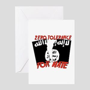 Zero Tolerance Greeting Cards