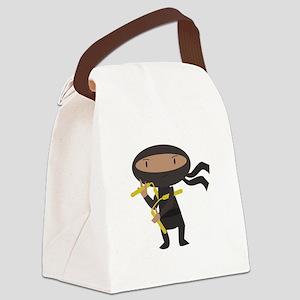Funny Ninja Canvas Lunch Bag