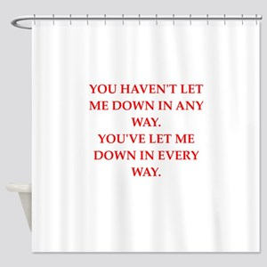 let down Shower Curtain