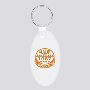 Made in 1967, All original Aluminum Oval Keychain